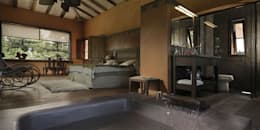Habitaciones de estilo rústico por Bórmida & Yanzón arquitectos