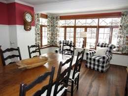 Country Farmhouse: Salle à manger de style de style eclectique par Kathryn Osborne Design Inc.