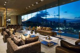 Гостиная в . Автор – GLR Arquitectos