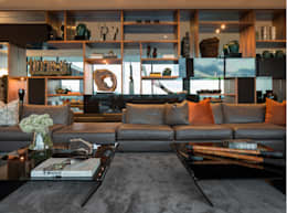Livings de estilo moderno por GLR Arquitectos