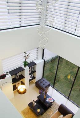 Vista Interior - Doble altura: Salas de estilo moderno por Estudio Meraki