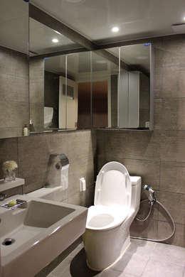 깔끔한 빌라 인테리어: dip chroma의  화장실