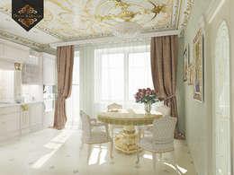 Золотая классика / трехкомнатная квартира в Казани по ул. Муштари: Кухни в . Автор – Decor&Design