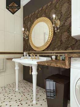 Золотая классика / трехкомнатная квартира в Казани по ул. Муштари: Ванные комнаты в . Автор – Decor&Design