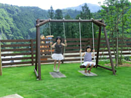 Jardín de estilo  por 自然工房 ウッドウォームズ