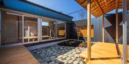 Jardines de estilo ecléctico por 梶浦博昭環境建築設計事務所