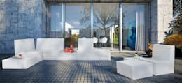 Balcones y terrazas de estilo minimalista por produktsalon // Susanne Uerlings Produktdesign