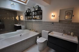 modern Bathroom by The Lady Builder