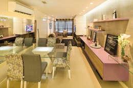 Novo e descolado.: Salas de jantar modernas por C. Arquitetura