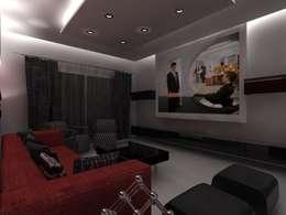 Appartement audi : Salle multimédia de style  par michel bandaly