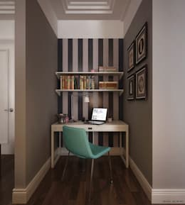 eclectic Study/office by KAPRANDESIGN