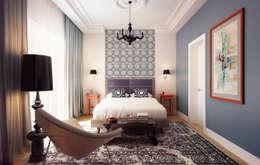 Projekty,  Sypialnia zaprojektowane przez KAPRANDESIGN