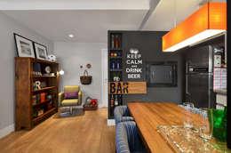 Apartamento RM : Salas de jantar modernas por CR Arquitetura&paisagismo