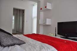 Casa 320: Dormitorios de estilo moderno por Baltera Arquitectura