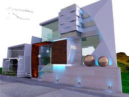 CASA CL: Casas de estilo moderno por Sergio Villafuerte -ARQUITECTOS-