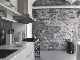 Papel tapiz estilo Industrial-Chic: Paredes y pisos de estilo industrial por DeColor