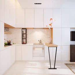Дизайн интерьера объединенной квартиры в ЖК «Арабская ночь» (Алупка): Кухни в . Автор – ROMM
