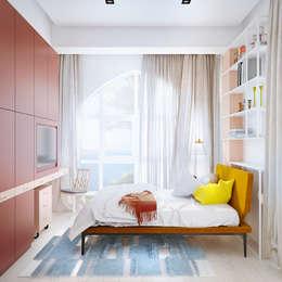 Дизайн интерьера объединенной квартиры в ЖК «Арабская ночь» (Алупка): Детские комнаты в . Автор – ROMM