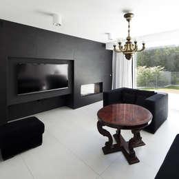 PERFORATED HOUSE INTERIOR: styl , w kategorii Salon zaprojektowany przez KLUJ ARCHITEKCI