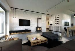 homify: iskandinav tarz tarz Oturma Odası