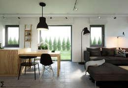 Comedores de estilo escandinavo de ELEMENTY - Pracownia Architektury Wnętrz