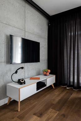 Mieszkanie na Bemowie: styl , w kategorii Salon zaprojektowany przez Jacek Tryc-wnętrza