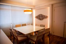 Sala moderna: Salas de jantar modernas por Marcia Debski Ferreira Designer de Interiores