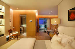 BC Arquitetos : modern tarz Yatak Odası