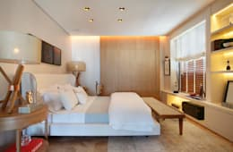 Dormitorios de estilo moderno por BC Arquitetos
