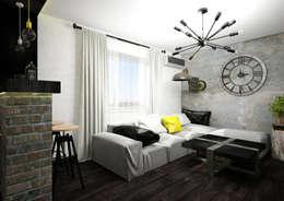 Livings de estilo industrial por AbcDesign