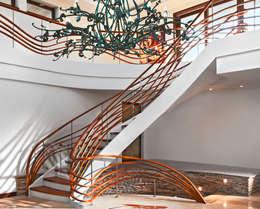 modern Corridor, hallway & stairs by Trąbczyński