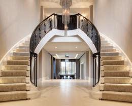 classic Corridor, hallway & stairs by Trąbczyński