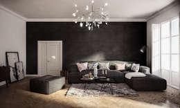 Wiktoria Ginter - architektura wnętrz: klasik tarz tarz Oturma Odası