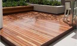 Wood Garden – Wood Garden: akdeniz tarzı tarz Bahçe