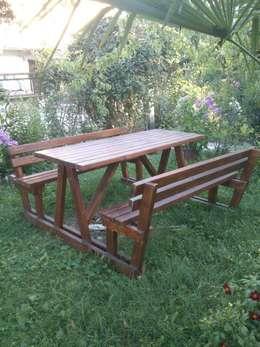 Wood Garden – Bahçe Mobilyaları: akdeniz tarzı tarz Bahçe