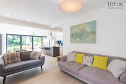 New life for a 1920s home - extension and full renovation, Thames Ditton, Surrey: modern Living room by TOTUS
