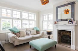 New life for a 1920s home - extension and full renovation, Thames Ditton, Surrey: classic Living room by TOTUS