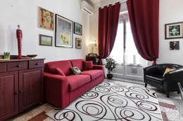 Projekty,  Salon zaprojektowane przez Architrek
