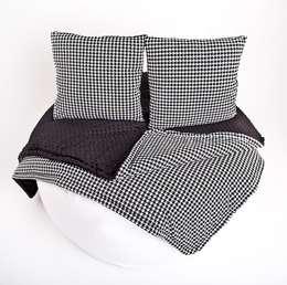 Narzuta w pepitę: styl , w kategorii Sypialnia zaprojektowany przez Ma Zo Kreacja