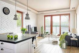 KUCHNIA SKANDYNAWSKO, KLASYCZNIE I INDUSTRIALNIE: styl , w kategorii Salon zaprojektowany przez ZEN Interiors - Architektura Wnętrz