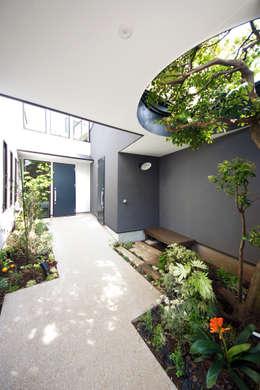 Jardines de estilo moderno de TERAJIMA ARCHITECTS