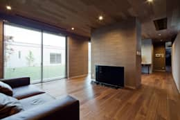 Dormitorios de estilo moderno por 依田英和建築設計舎