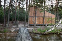 Lake Cabin: modern Houses by FAM Architekti