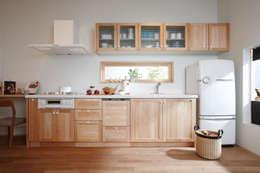 無垢の木のキッチン「su:iji(スイージー)」 メープル: 株式会社ウッドワンが手掛けたキッチンです。