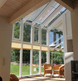 Jardines de invierno de estilo moderno por Dammann-Haus GmbH