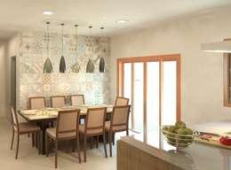 Cozinha e copa integradas: Salas de jantar modernas por Patrícia Alvarenga