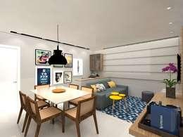 Apartamento .AG: Salas de jantar modernas por Amis Arquitetura & Design