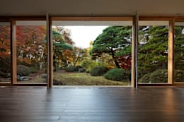 清正崇建築設計スタジオ: eklektik tarz tarz Oturma Odası