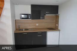 kitchenette studio 1: Cuisine de style de style Moderne par AD2