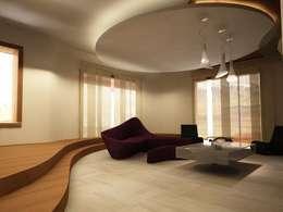 Salas de estilo minimalista por teknogrup design